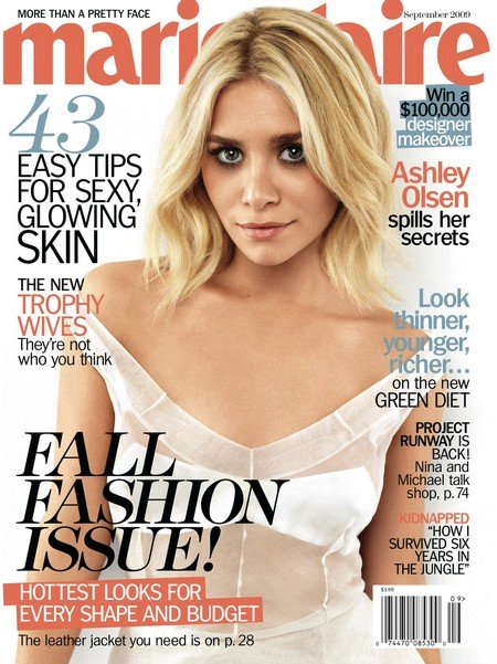 Marie Claire Fall Fashion Issue. How innocent Ashley Looks
